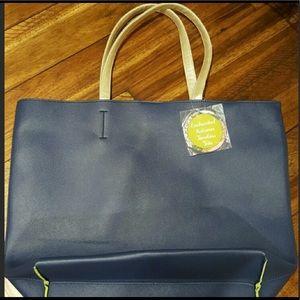 Handbags - Enchanted Autumn Timeless Tote! Navy/lime green